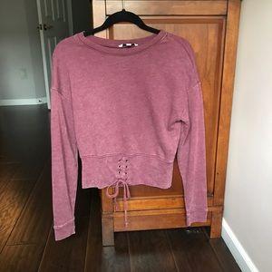 Maroon American Eagle corset sweater